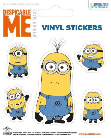 Despicable Me Minions Vinyl Stickers